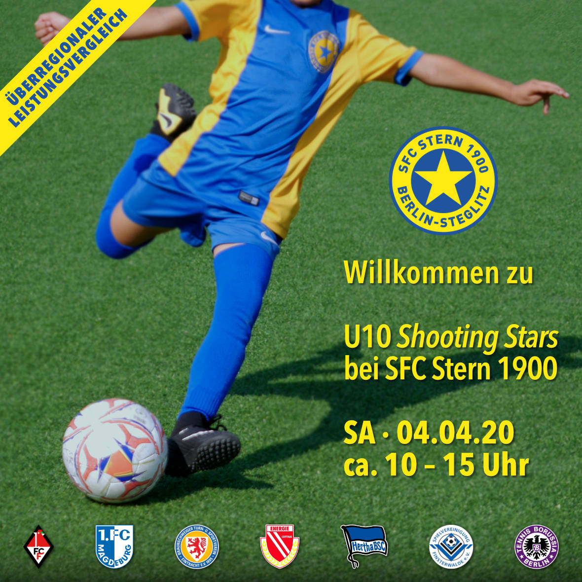 Willkommen zu U10 Shooting Stars am 04.04.2020 bei SFC Stern 1900 Berlin